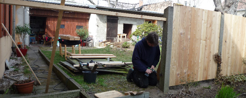 Gartenzaun selber bauen DIY Do it yourself